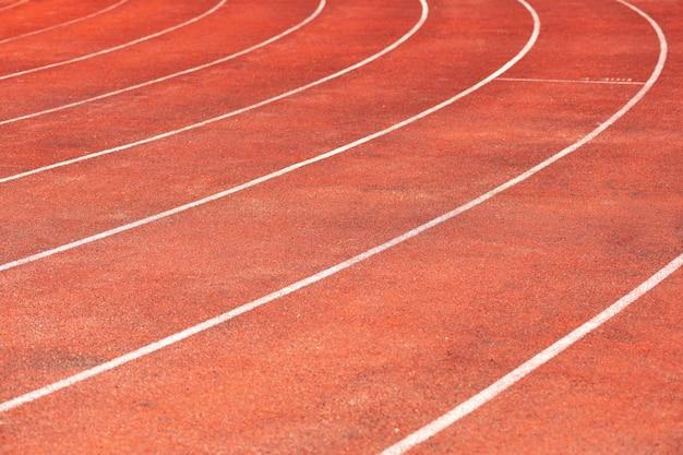 Pista do estádio para competições de corrida e atletismo.