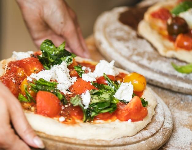 Pizza caseira comida photgraphy receita ideia