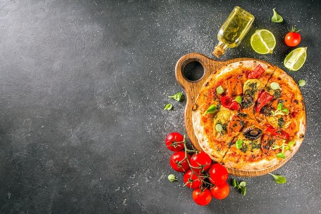 Pizza caseira vegana inteira.
