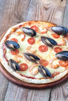Pizza com frutos do mar