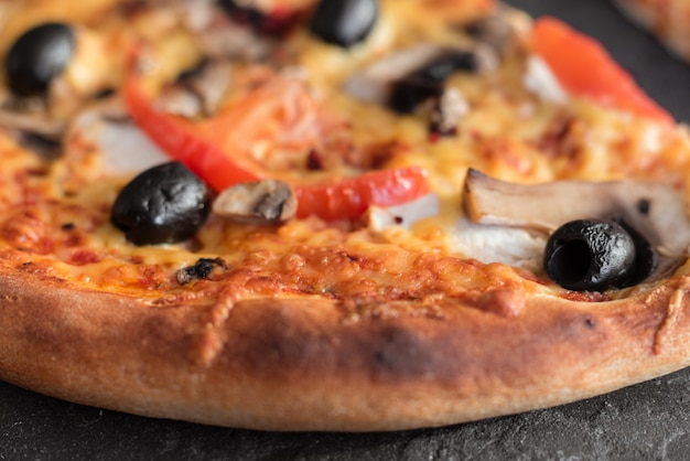 Pizza, comida, vegetais, margarita.