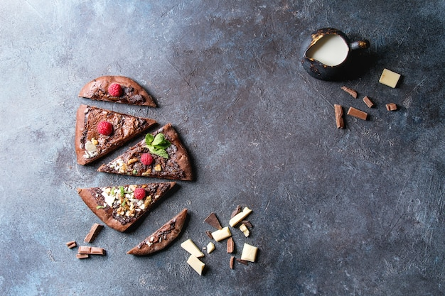 Pizza de chocolate de sobremesa