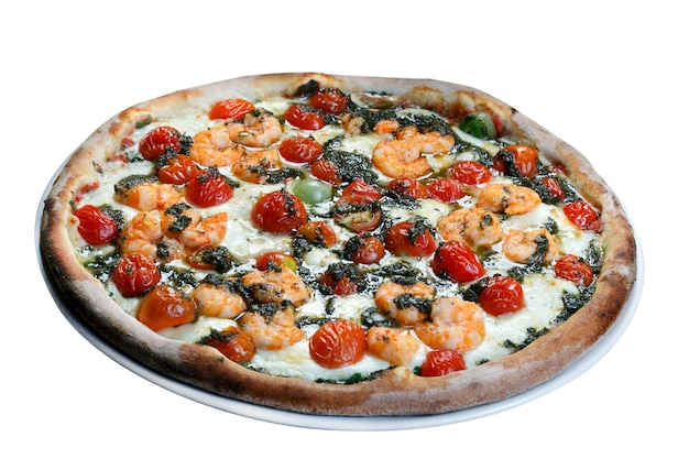 Pizza de frutos do mar