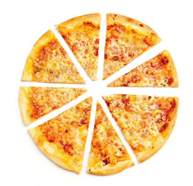 Pizza de quatro fatias de queijo