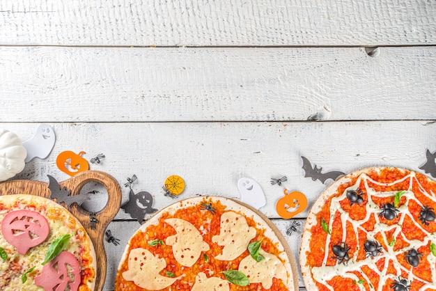 Pizza decorada de halloween