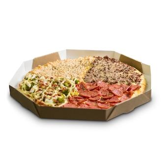 Pizza deliciosa para levar entrega dentro da caixa