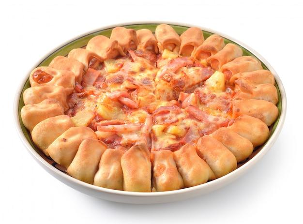 Pizza em branco isolado