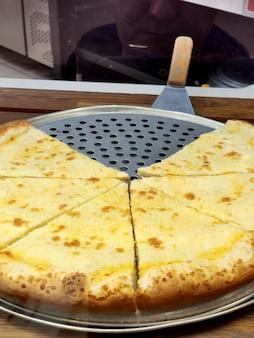 Pizza em fatias triangulares