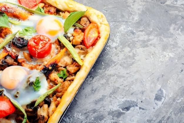 Pizza fresca deliciosa