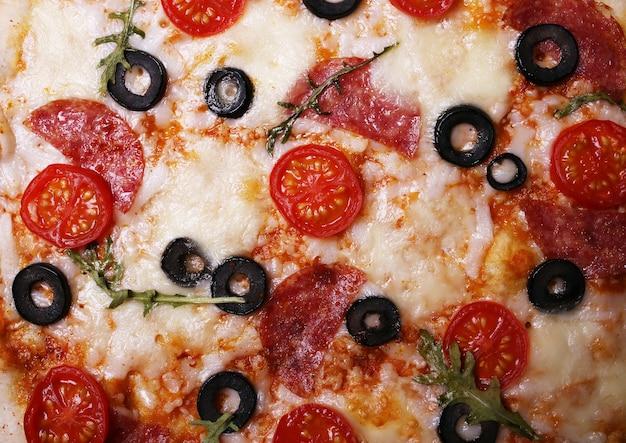 Pizza italiana de textura