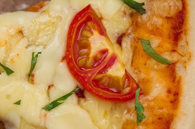 Pizzamargerita caseira deliciosa pizza