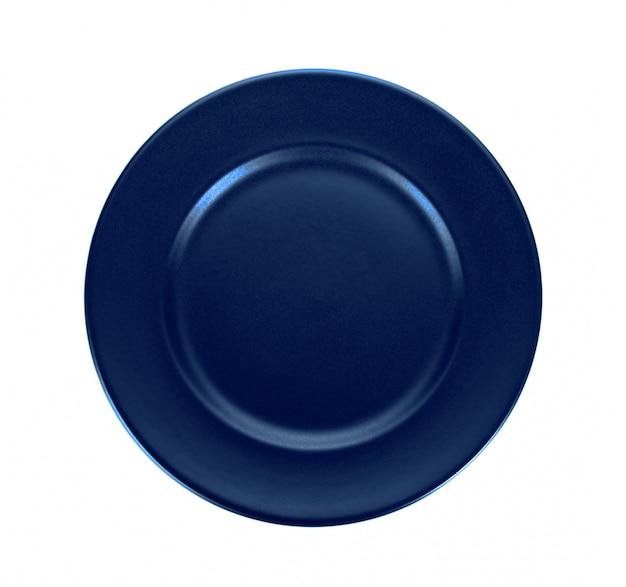 Placa azul isolada na superfície branca