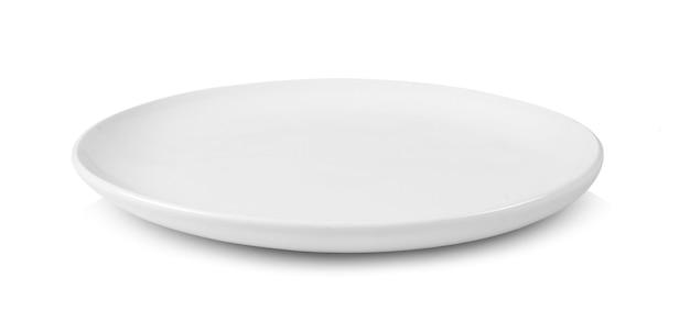 Placa branca isolada no fundo branco