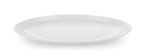 Placa cerâmica isolada no branco