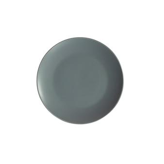Placa cinza isolada na superfície branca
