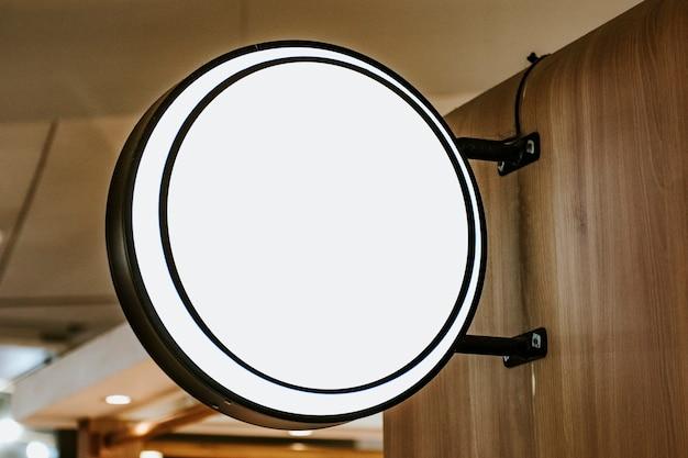 Placa circular para cafés e restaurantes