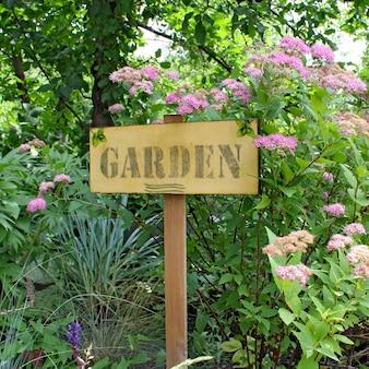 Placa de carta de jardim
