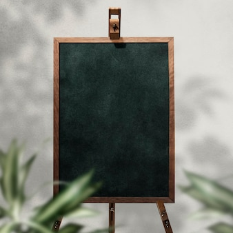 Placa de cavalete de quadro negro para casamentos e eventos
