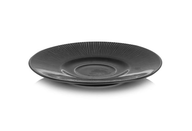 Placa de cerâmica preta em branco