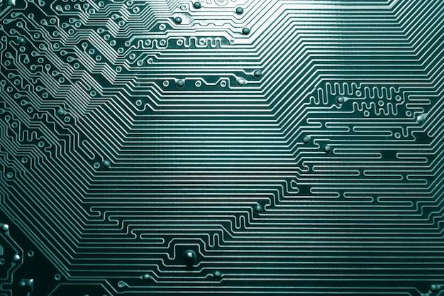 Placa de circuito componentes de tecnologia de computador eletrônico fundo de ciência digital da placa-mãe