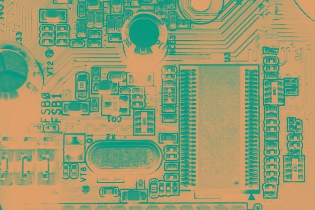 Placa de circuito componentes de tecnologia de hardware de computador eletrônico fundo digital da placa-mãe