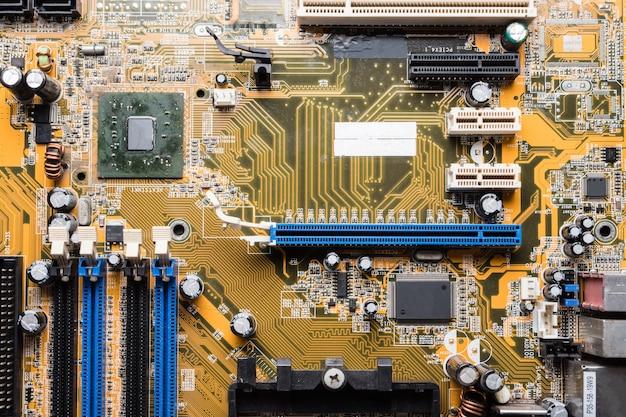 Placa de circuito de computador, fundo de tecnologia eletrônica.