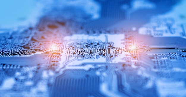 Placa de circuito de pcb fundo de tecnologia de design