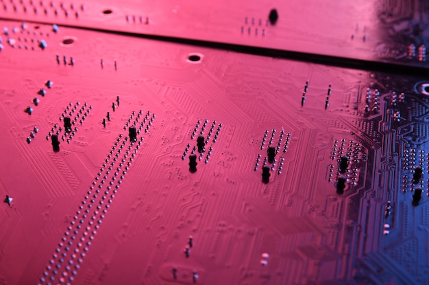 Placa de circuito eletrônico abstrata