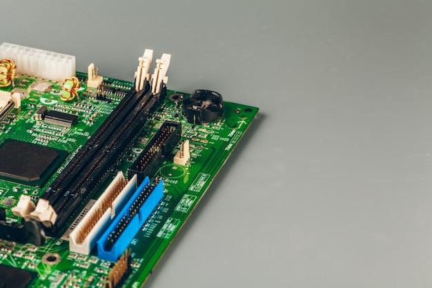 Placa de circuito eletrônico de computador com processador