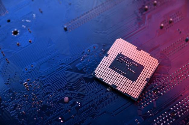Placa de circuito. fundo de tecnologia.