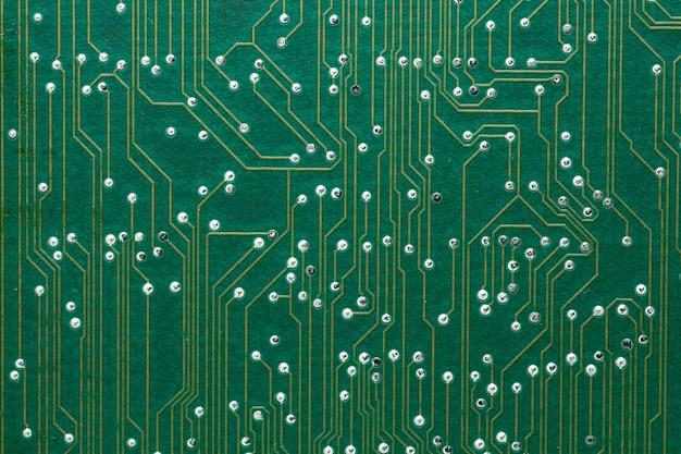 Placa de circuito impresso close-up
