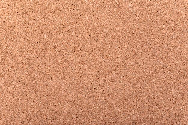 Placa de cortiça em branco close-up como plano de fundo ou textura