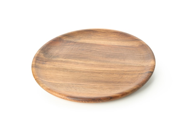 Placa de cozinha de madeira isolada no branco