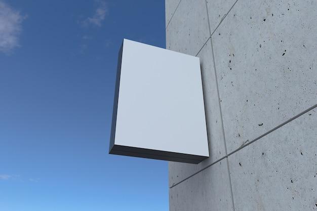 Placa de fachada de placa de montagem em parede quadrada
