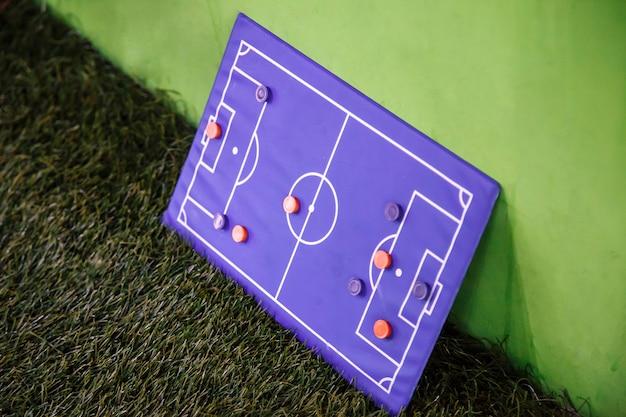 Placa de futebol para táticas