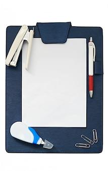 Placa de grampo com moldura de papel para o espaço tímido surround por papel líquido