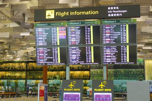 Placa de informação de voos