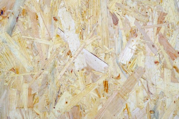 Placa de lascas de madeira marrom luz reciclada comprimida texturizada