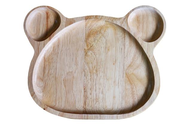 Placa de madeira com local para um copo d'água com traçado de recorte