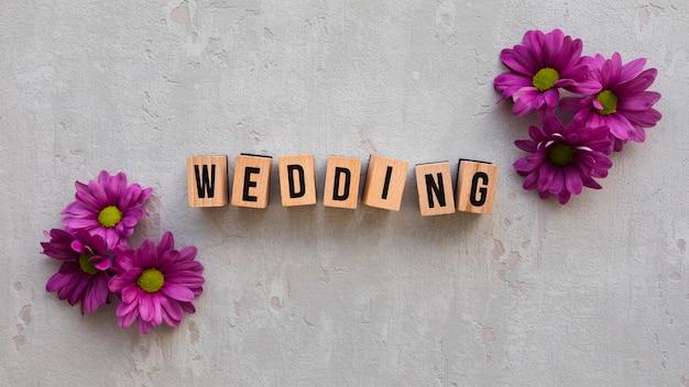 Placa de madeira de casamento
