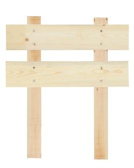 Placa de madeira em branco isolada