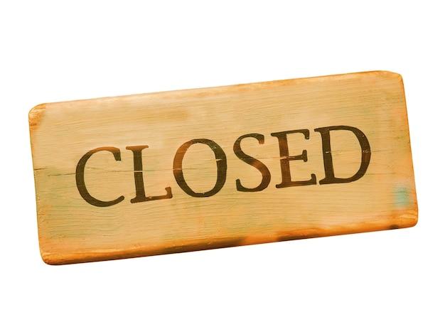Placa de madeira fechada