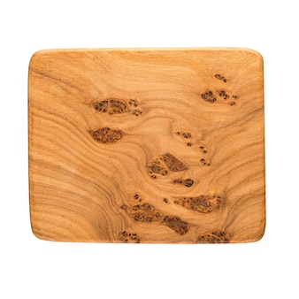 Placa de madeira isolada simulada