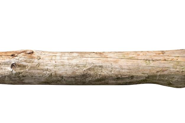 Placa de madeira velha com rachaduras isoladas em um fundo branco. foto de alta qualidade