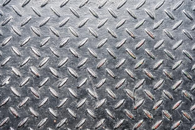 Placa de metal de diamante de grunge