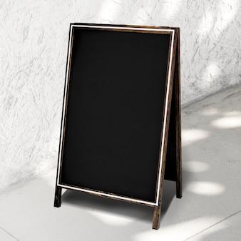 Placa de quadro-negro com espaço de cópia para restaurante