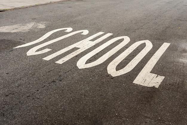 Placa de rua da escola