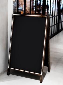 Placa de sinal de restaurante