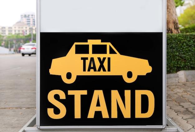 Placa de sinal de táxi