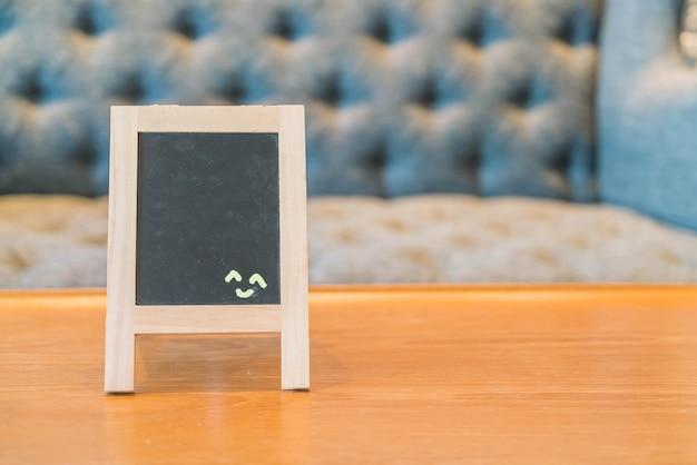 Placa do menu vazio